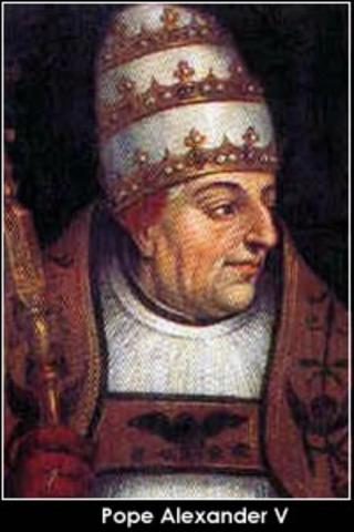 Alexander V. was elected Pope