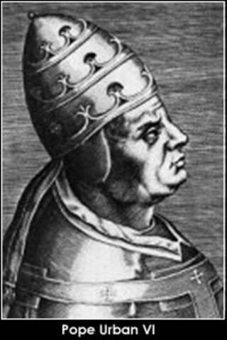 Urban VI was voted as Pope