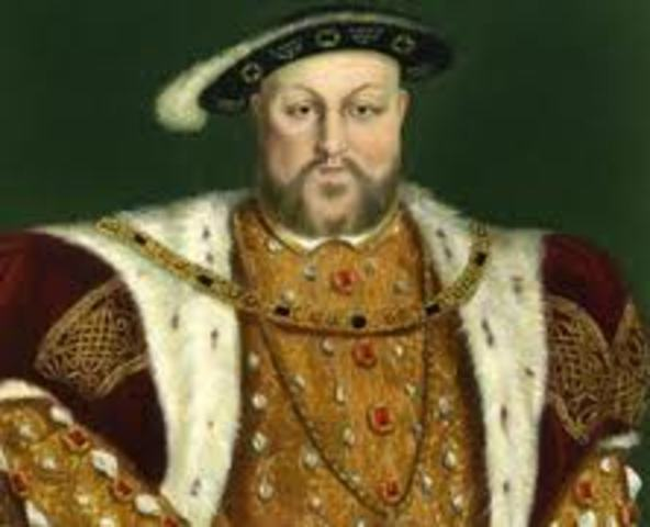 Henry VIII is crowned king of England