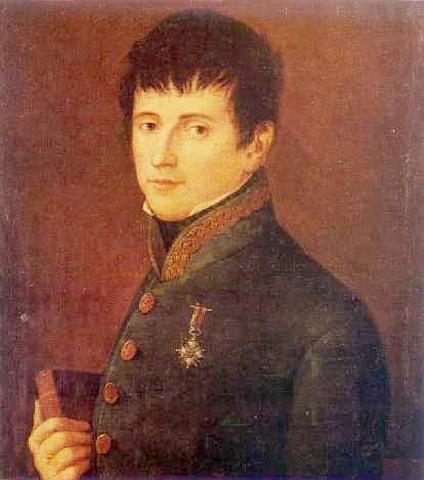 Rafael Riego se subleva contra la monarquía absoluta de Fernando VII y a favor de la Constitución de 1812.
