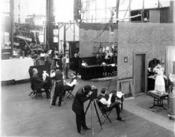 First motion picture studio