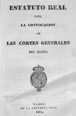 Estatuto Real de 1834