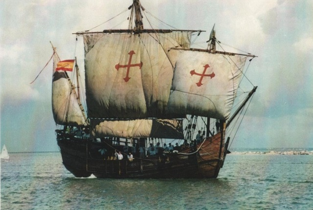 The first voyage of Christopher Columbis