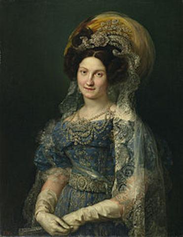 Boda de Fernando VII con María Cristina de borbón