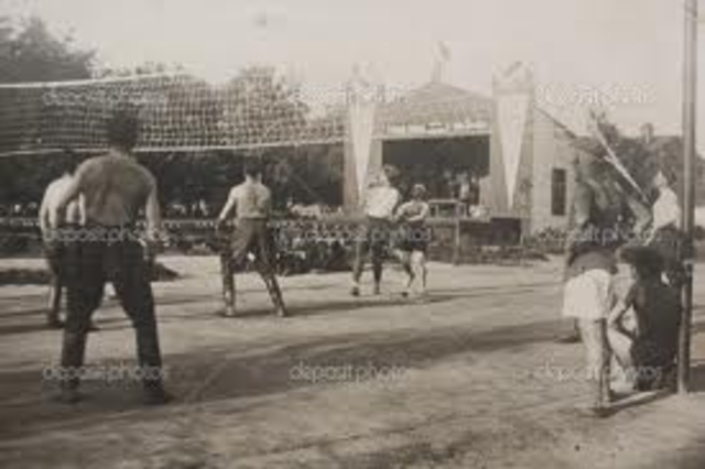 The First Volleyball Competition