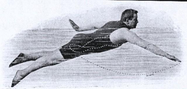 imprivised swimming stroke