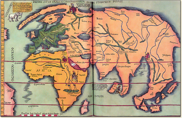 A new map, from Claudius Ptolemy