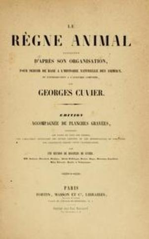 Reino animal distribuido a partir de su organización de Cuvier