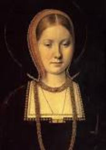 Catherine of Aragon and King Henry get married