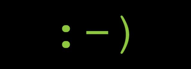 First emoticon