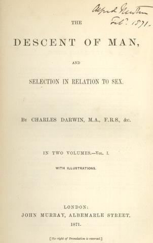"""Publica """"La ascendencia del hombre"""" (""""Descent of man"""") - Darwin"""