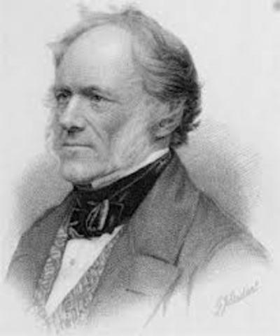 Lyell viajó a la región volcánica de Olot (España) para realizar investigaciones geográficas