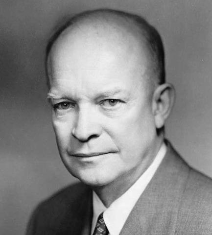 Dwight Eisenhower was born.