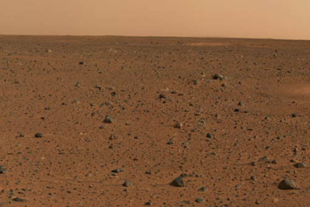 first close up on mars
