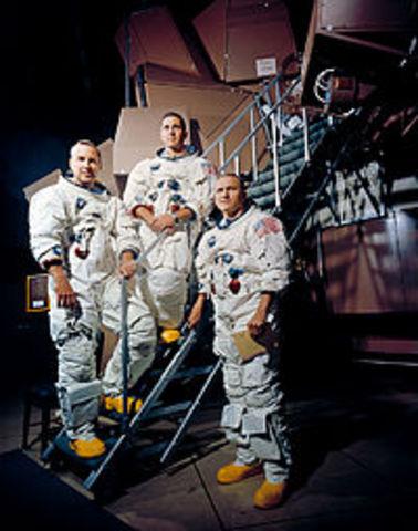 first manned moon orbit