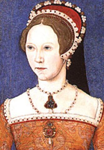 Henry VIII's daughter Mary declared Queen