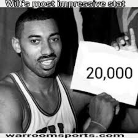 Wilt Chamberlin scores a NBA record 100 Points in a game vs. New York.