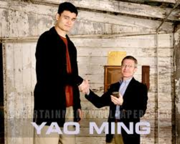 the Houston Rockets Draft Yao Ming to be the first #1 overall pick to never play College ball in the US.