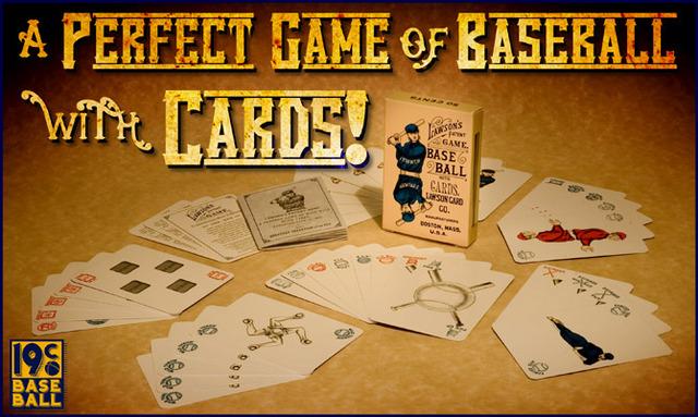 Lawson's Patent Baseball Card Game