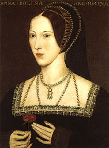 King Henry VIII marries Anne Boleyn