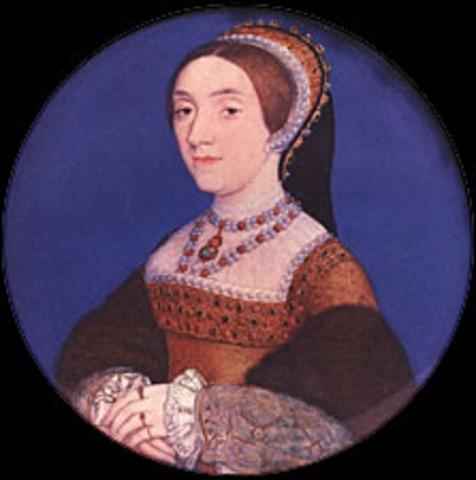 Kathryn Howard and King Henry VIII get married