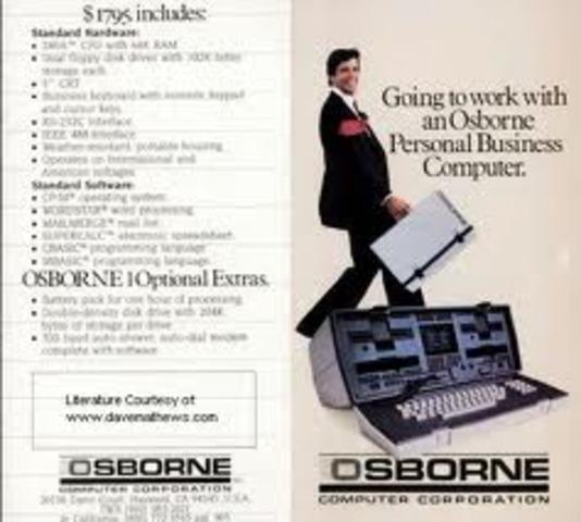 Osborne 1  L a primera computadora portatil
