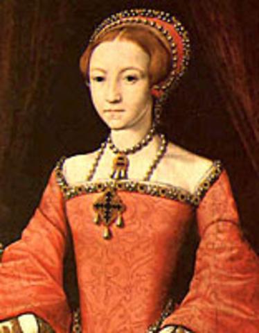 Princess Elizebeth I of England is born