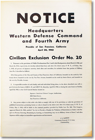 First Civilian Exclusion Order
