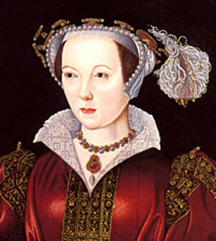 Katherine Parr and King Henry VIII get married
