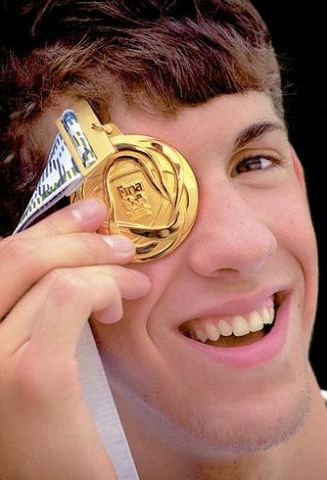 Michael Phelps' first gold