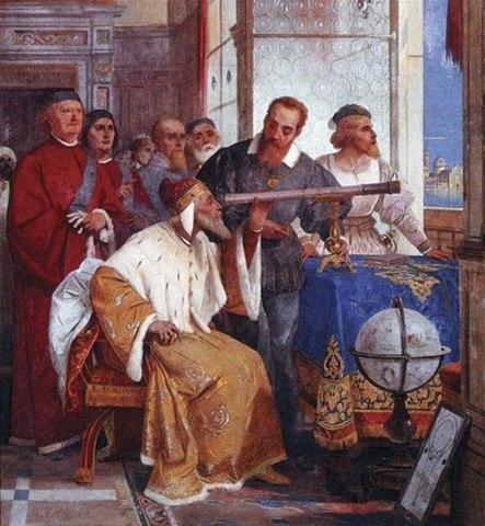 Galileo Galilei improved telescope