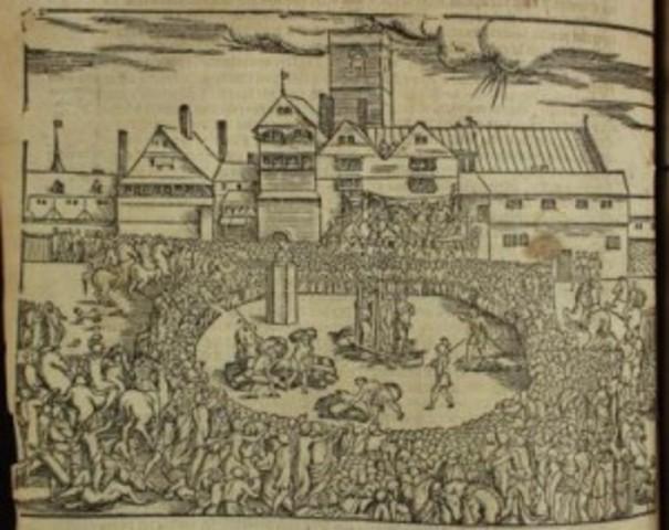 King Henry VIII beheads Anne Boleyn