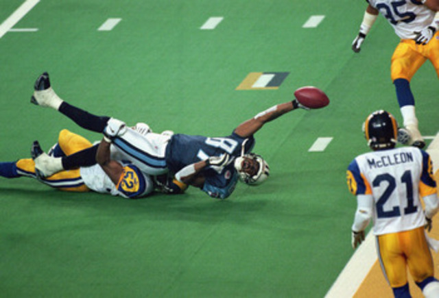 Tennese one yard from super bowl champs