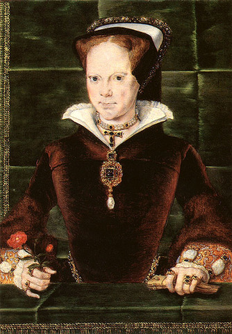 Mary I is coronated as Queen of England