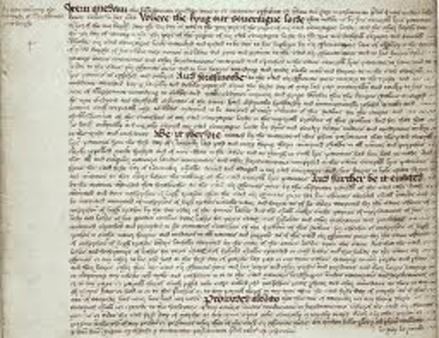 Act of Supremecy under King Henry VIII