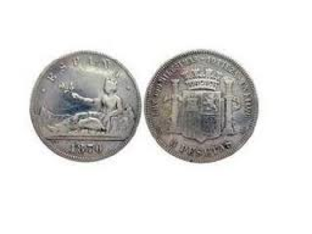 Emisión de la primera moneda de la peseta