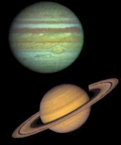 Brahe Observes Jupiter and Saturn Overlapping