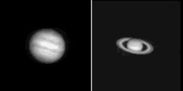 Observed the overlapping of Satern and Jupiter