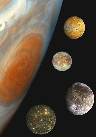 First Four Moons of Jupiter