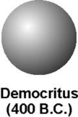 Democritus discovers atoms