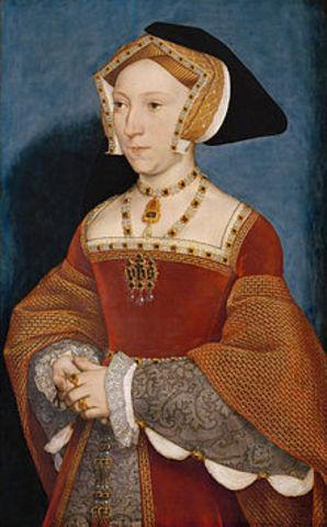 King Henry VIII marries Jane Seymour