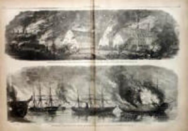Torching of Norfolk Navy Yard