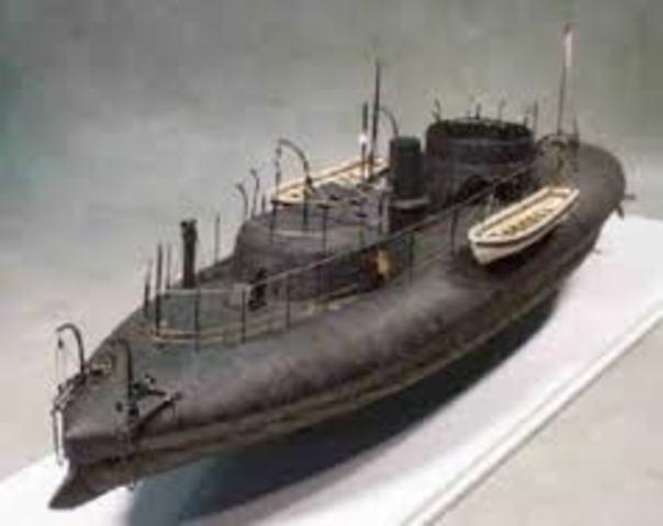 USS Keokuk sinks.