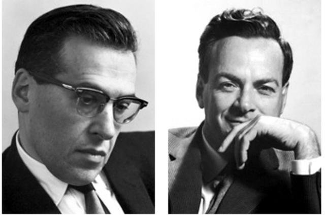 Richard Feynman and Julian Schwinger