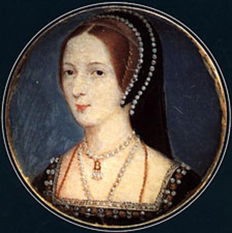 Marriage between Anne Boleyn and King Henry VIII