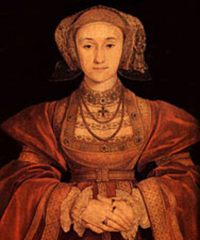 Marriage between Anne of Cleves and King Henry VIII