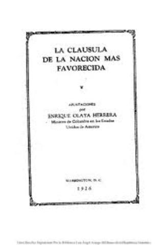 CLAUSULA DE LA NACION MAS FAVORECIDA