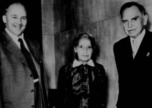 Lise Meitner and Otto Hahn and Fritz Strassman