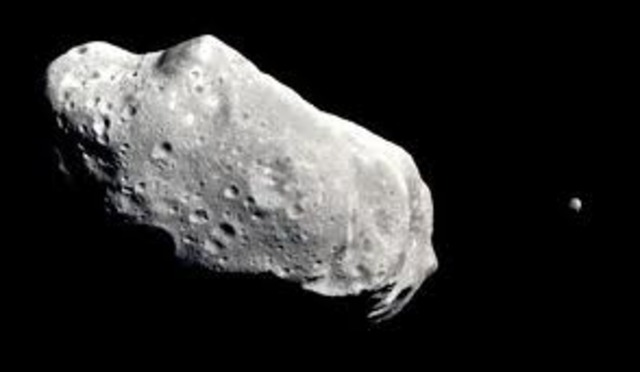 Galileo obtains first up-close images of asteroid (Gaspra)