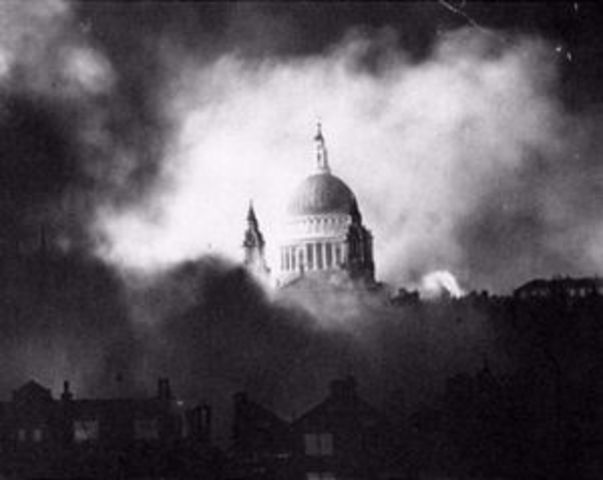 First German air Raid on London ( The Blitz From Germany ) 7 September 1940 – 21 May 1941 - (8 months, 1 week and 2 days)